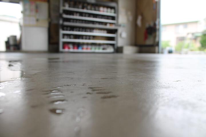 掃除後の綺麗な床