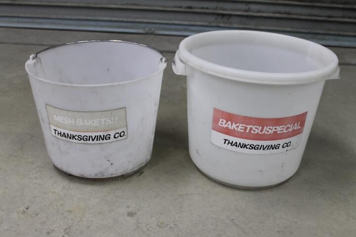 サンクスギヴィング バケツスペシャル 水研ぎ作業用二重バケツ