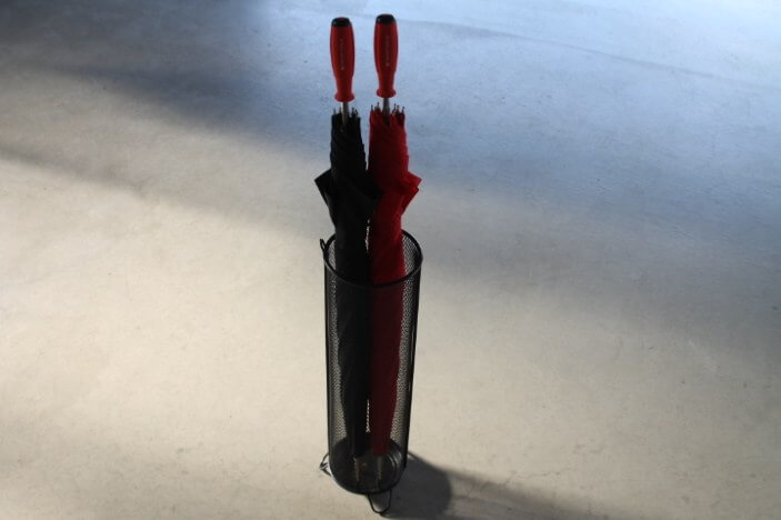 PB傘 赤 黒