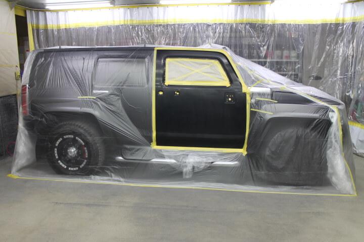 H3ハマー ドア修理塗装