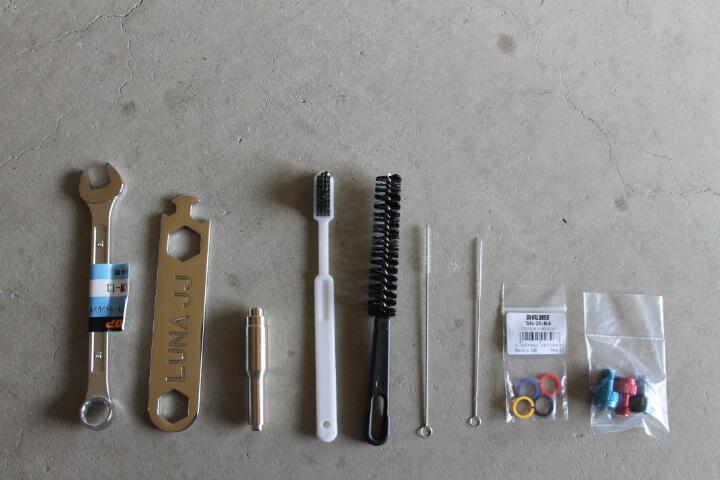 デビルビスLUNA2-PRO-3Sスプレーガンセット 付属品