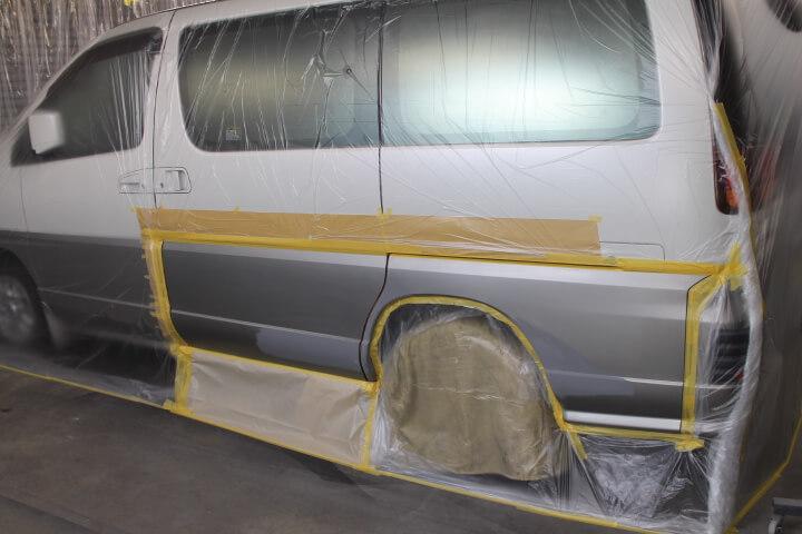 ALWE50 エルグランド シルバー部分塗装