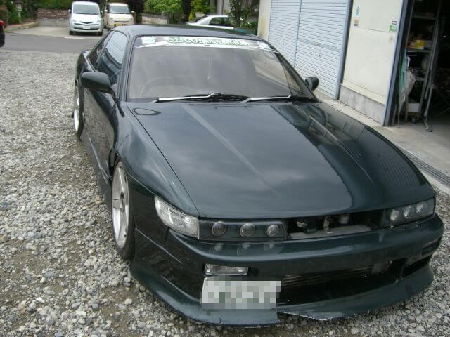 S13シルビアの鈑金修理