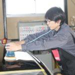 RB3オデッセイ コーティング前の磨き作業