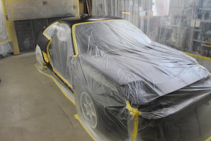 トヨタSW20MR2全塗装マスキング