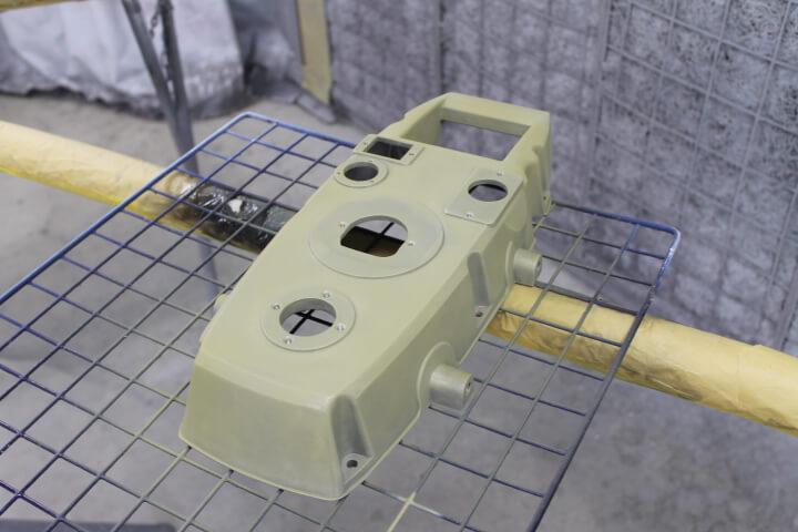 工業用アルミブロック製品の塗装