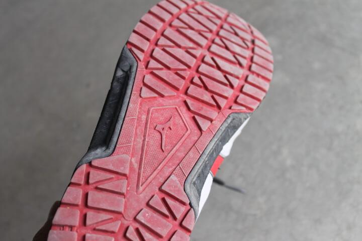 ミズノ安全靴 ソールの耐久性