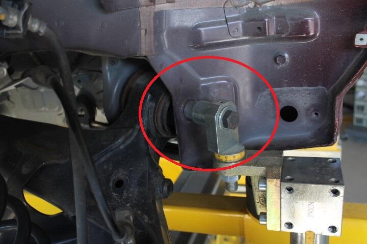 ジグ式フレーム修正機固定箇所