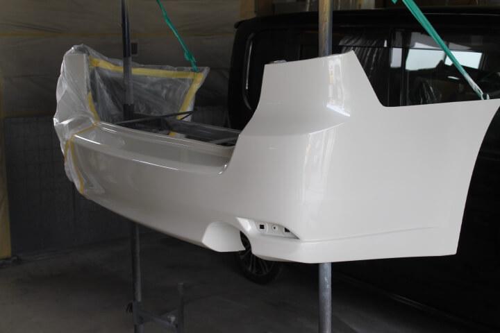 BR9 レガシィ リヤバンパー修理塗装