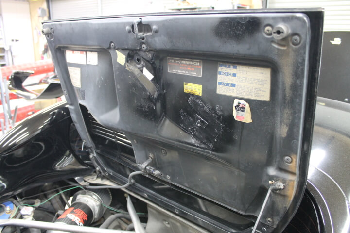 SW20 MR2 エンジンフード裏インナーパネル