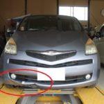 トヨタ ラクティス バンパー下側修理