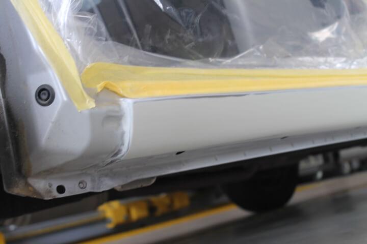 MH23S スズキワゴンR サイドステップ修理