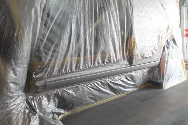 MH23S スズキワゴンR サイドステップ修理塗装