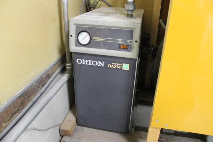 ORION(オリオン) エアードライヤー 冷凍式圧縮空気除湿装置。 RAX6F