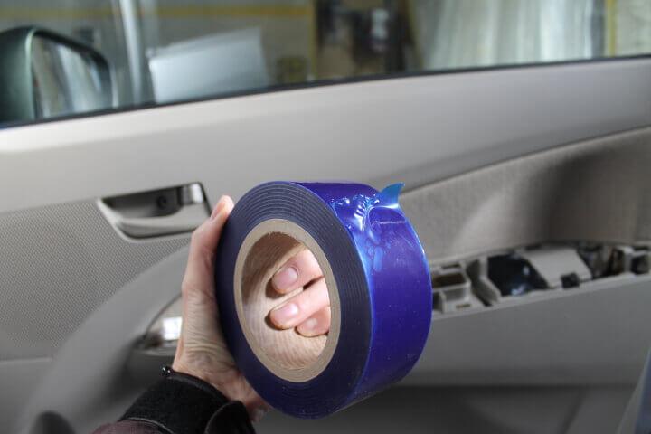 車 傷防止テープ