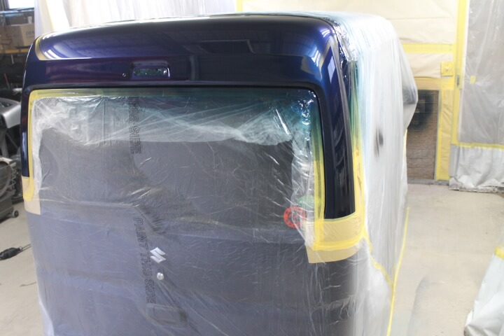 スズキ DA17Vエブリィ ハイルーフ バックドアの塗装