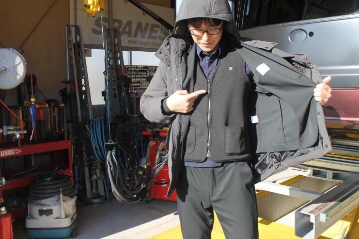 オアシス スーツ型作業着 ウォームコート 電熱ベスト