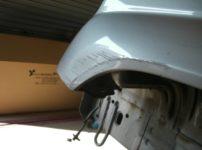 三菱パジェロイオ 左フロントフェンダー 板金塗装