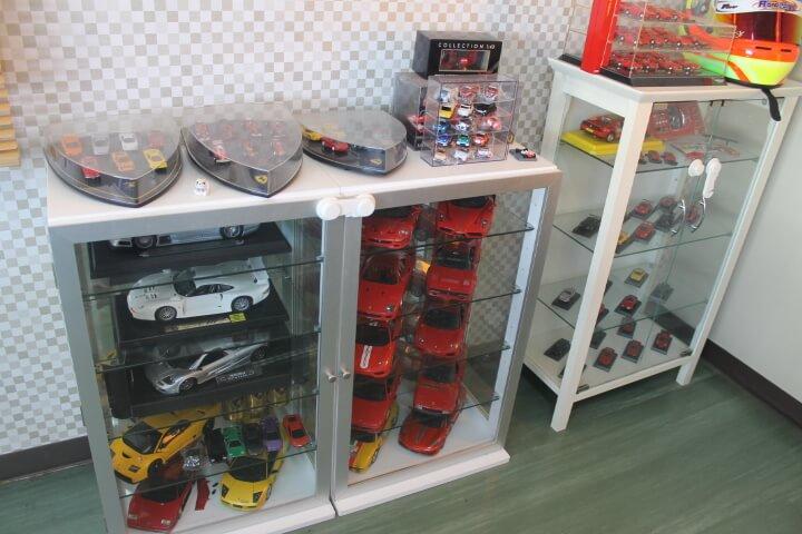 スーパーカーのミニカーコレクション