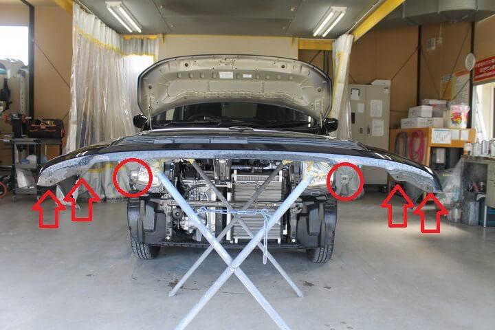 SUZUKI MH55SFX ワゴンR フロントバンパークリップ位置