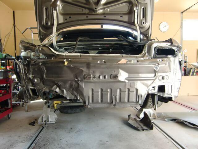 S14シルビア 事故車修理 フレーム修正