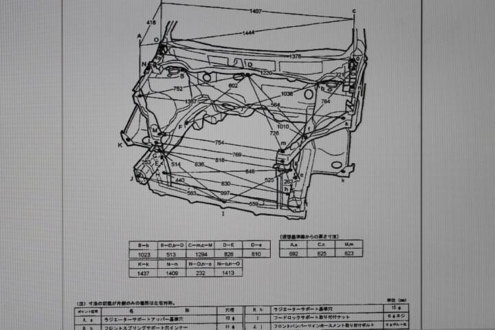 自動車 アッパーボデー寸法図