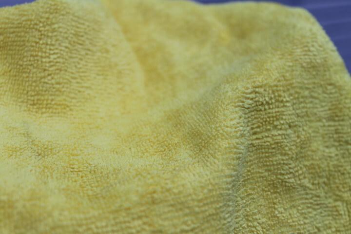 カークランドマイクロファイバータオルの表面の毛足