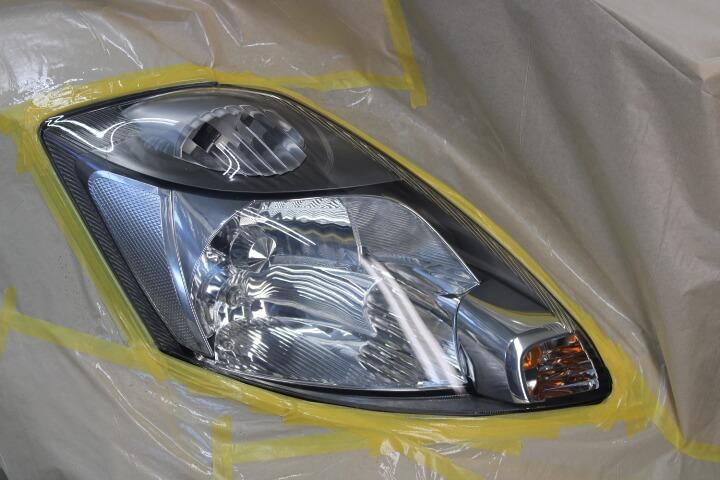 UV硬化ヘッドライトコーティングRX-3240施工完了