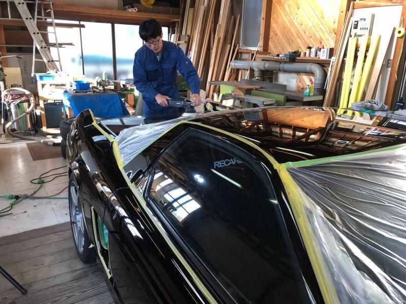 HONDA NSX 黒磨き
