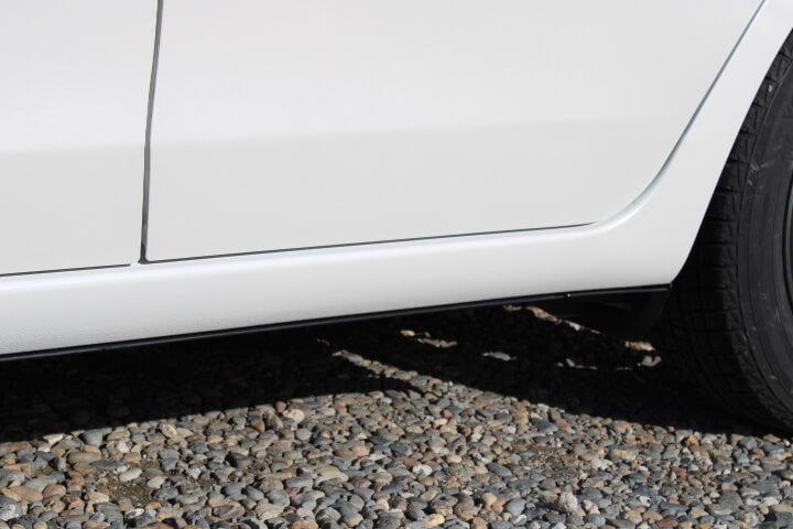 トヨタ NSP130 ヴィッツ ロッカーアウターパネル修理完成