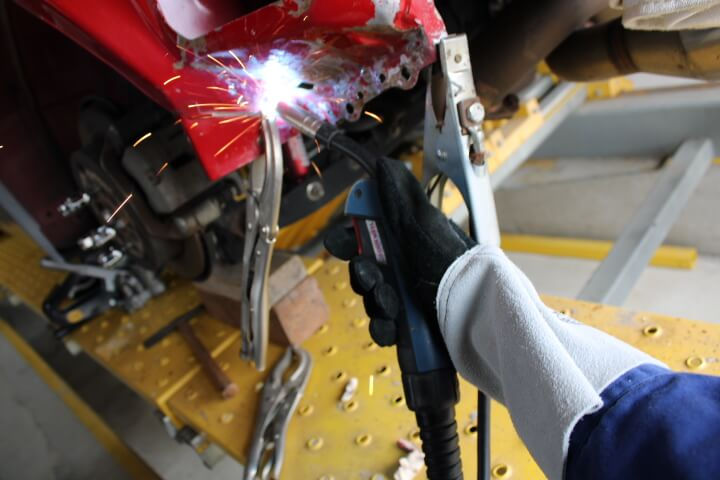 半自動溶接機用グローブ ウエルグローブEC-5002K5