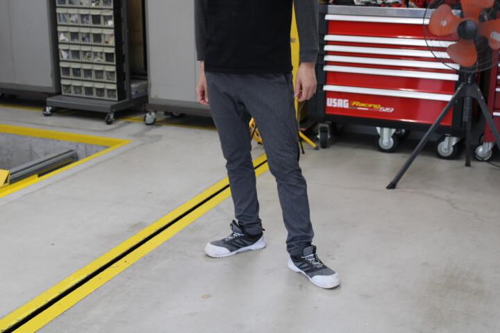 ミズノ安全靴 ゴムタイプ ファッションコーディネート