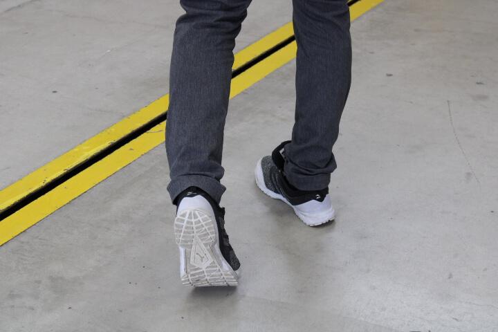 ミズノ安全靴 ゴムタイプのソール裏側
