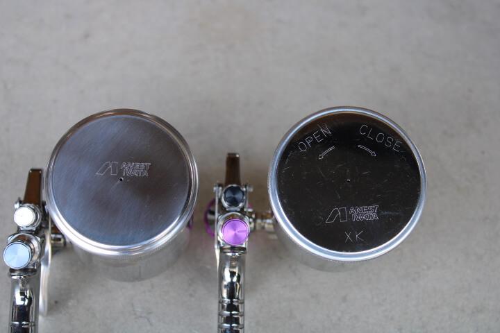 PC-400S-2LSF PC-400SB-2LF 塗料カップ比較