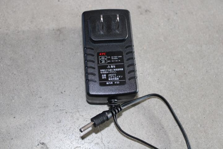 9.5sq.コードレスラチェットレンチセット リチウムイオン充電器